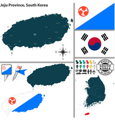 jeju province south korea vector image