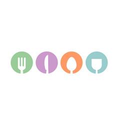 kitchen set restaurant logo vector image