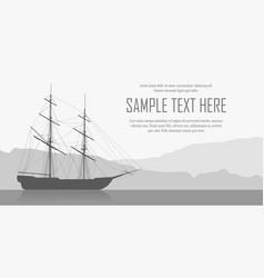 Landscape with sailing ship vector
