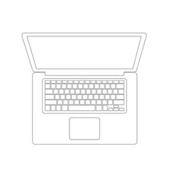 laptop lining draw front vector image