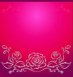 Leaf line pattern on pink background vector