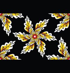 leaf seamless pattern simple batik motif vector image