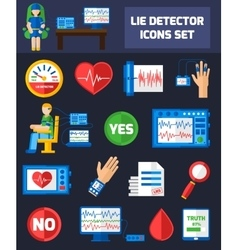 Lie Detector Icons vector