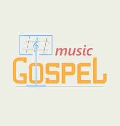 Logo gospel music vector