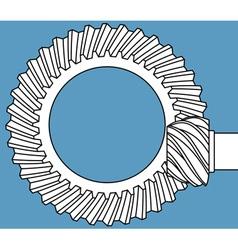 Main gear icon vector
