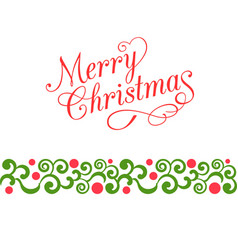 Merry christmas calligraphy vector