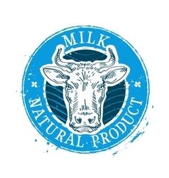 Milk logo design template cow or farm icon vector