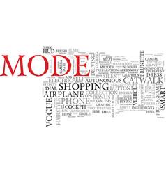 Mode word cloud concept vector