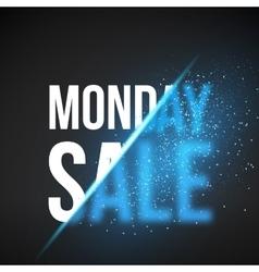 Monday Sale Energy Explosion Concept vector image