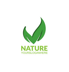 nature leaf logo vector image