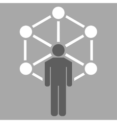 Network icon from Business Bicolor Set vector image