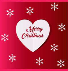 new year and christmas background with heart vector image vector image
