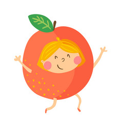 orange girl vector image