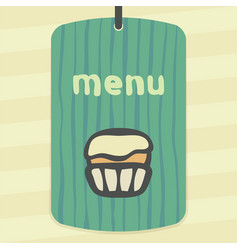 Outline cupcake with cream icon modern infographic vector
