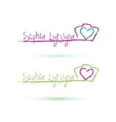 Photographer Logo with heart vector image