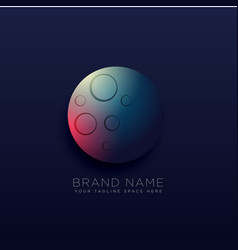 Planet logo design with light effect vector