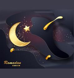 ramadan kareem islamic design crescent moon vector image
