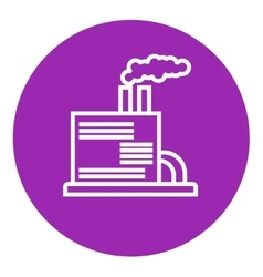 Refinery plant line icon vector
