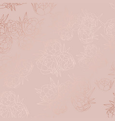 rose gold floral pattern with a foil effect vector image