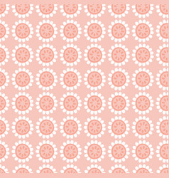 Seamless repeat pattern stylized pink and white vector