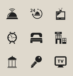 Set of 9 editable plaza icons includes symbols vector