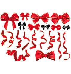 set of bows and ribbons vector image