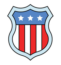 shield with usa flag united state independence vector image