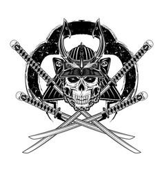 Skull samurai 0007 vector
