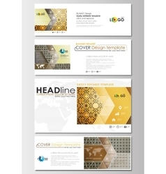 Social media and email headers set modern vector