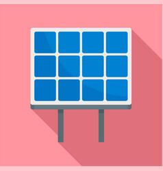 solar panel icon flat style vector image