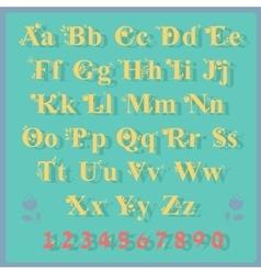 Summer Floral font Artistic alphabet vector image