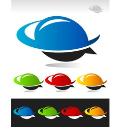 Swoosh Bubble Logo Icon vector image
