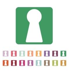 The keyhole icon Lock symbol Flat vector image