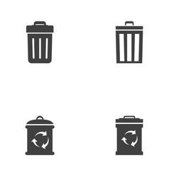 Trash icons design vector