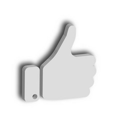 white hand with thumb up gesture of like agree vector image