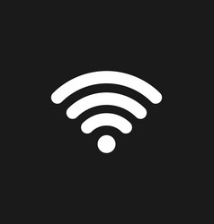 Wifi icon connection wifi signal coverage symbol vector