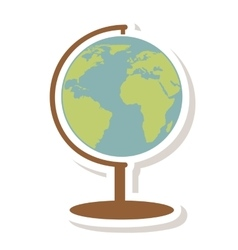 Word planet isolated icon vector