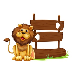Cartoon Lion Signboard vector image