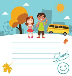 Design with kids Back to school vector image