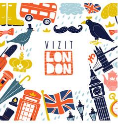 london frame background vector image