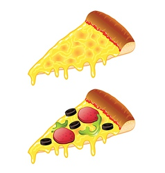 object slice of pizza vector image vector image