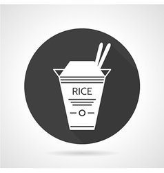 Rice takeaway black icon vector image vector image