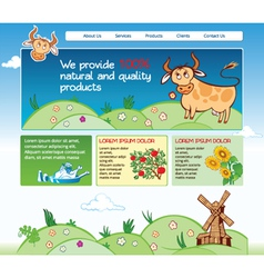 Web template for agricultural business vector image