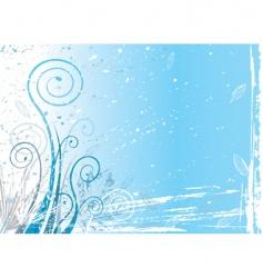 winter flora vector image vector image