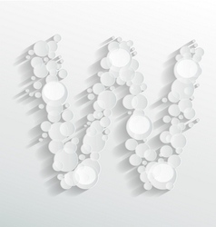 Embossed bubble W alphabet vector image