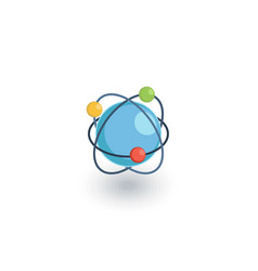 global communication network isometric flat icon vector image