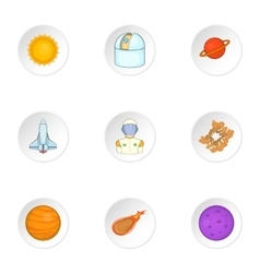 Outer space icons set cartoon style vector image vector image