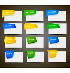 retail origami stickers vector image
