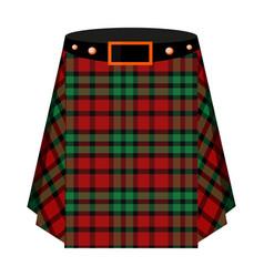 scottish tartan kiltthe men s skirt for the scots vector image vector image