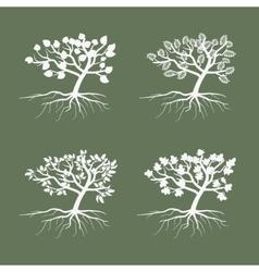 Simple trees Environmental symbol tree vector image vector image
